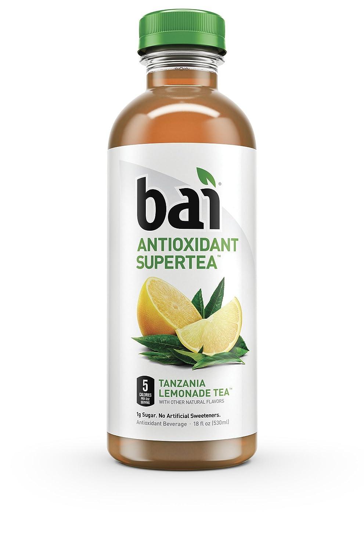 """Bai5 5-Calorie Tanzania Tea Naturally Sweetened Antioxidant Infused Beverage, Lemonade, 17 Pound (Pack of 12)"""