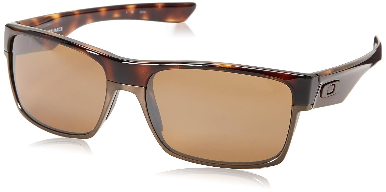 Oakley Men's Twoface OO9189-17 Polarized Iridium Rectangular Sunglasses,Tortoise,60 mm