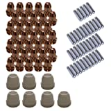 Lotos Plasma Cutter Consumables Sets for Brown Color LT5000D and Brown Color CT520D (77 Pieces) (Tamaño: 77 Pieces)
