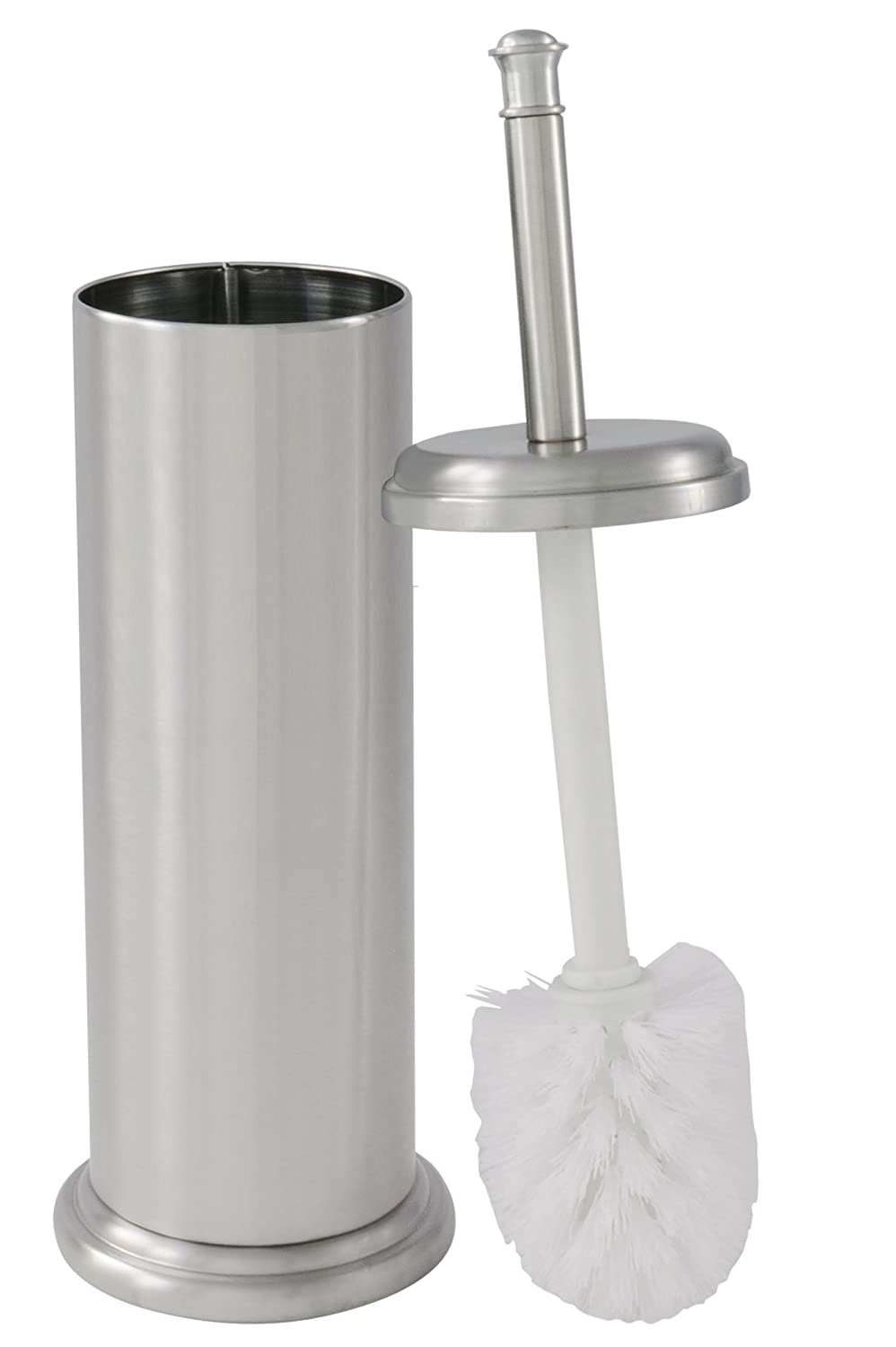Toilet Brush with Canister Brushed Nickel Finish