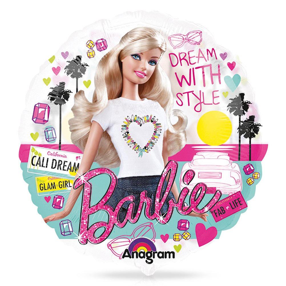 8 x Folienballon Luftballon Heliumballon Barbie – 66 cm günstig