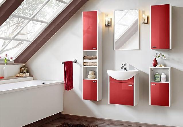 Set da bagno COLORADO ROSSO–Set di mobili da bagno lavabo 01238