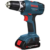 Bosch DDB180-02 18-Volt Lithium-Ion Compact Drill Driver with 2 Slim Packs and Charger - Manufacturer Refurbished