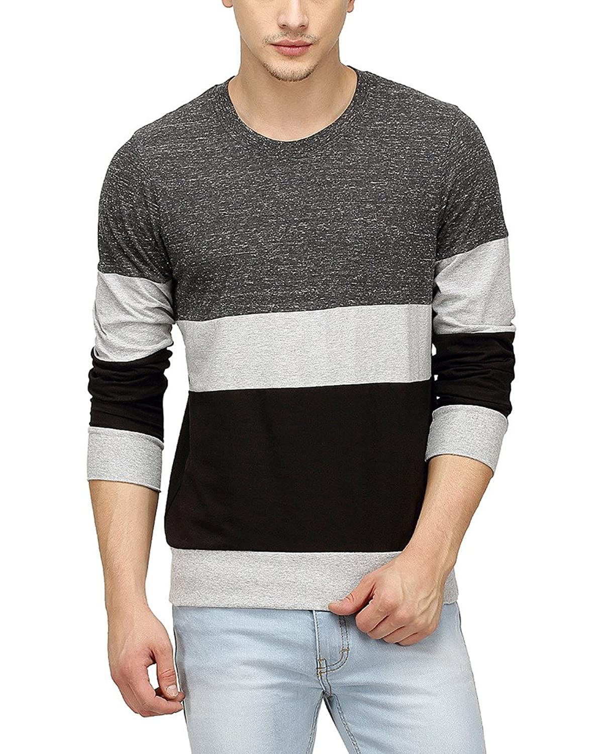 Full sleeve T-shirts for men are among the best outfits for all types of body frames, allowing the macho man to flaunt those muscular lines and for the slimmer guys, it works as a great layered outfit.