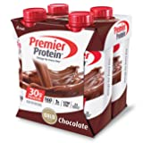 Premier Protein 30g Protein Shakes, Chocolate, 11 Fluid Ounces, 4 Per Pack (Color: Chocolate Shake, Tamaño: 4pk)