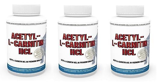 3er Pack Vita World Acetyl-L-Carnitin HCL 1000mg pro Kapsel 360 Kapseln hohe Bioverfugbarkeit Apotheken Herstellung