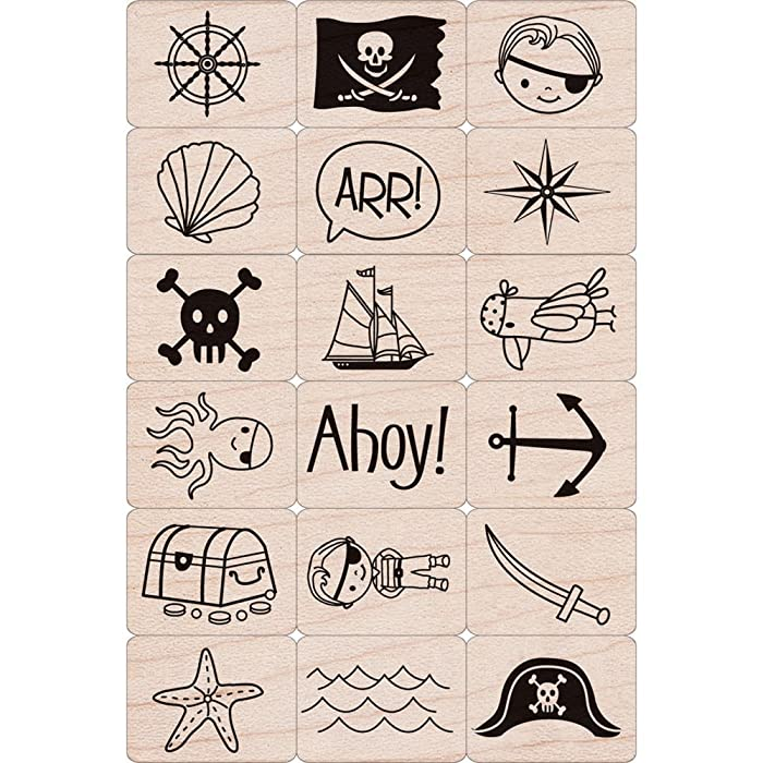 Pirate Rubber Stamp Set