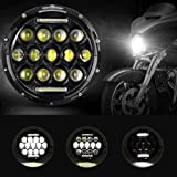 YPINGLI 4 inch 60W Motorcycle LED White Light For Harley Jeep Wrangler Waterproof LED car light
