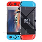 Dockable Switch Case, Dockable Case Compatible with Nintendo Switch, Clear Protective Accessories Cover Case Compatible with Nintendo Switch and Nintendo Switch Joy-Con (Color: Clear)