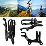 Alonea New Adjustable Bicycle Bike Disc Brake Bracket Frame Adaptor Mounting Holder (Black) (Color: Black, Tamaño: One Size)