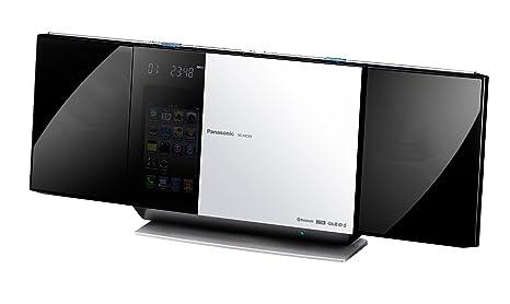 Panasonic SC-HC55EG-W Micro chaîne Station d'accueil iPod/iPhone 40 W Bluetooth Capteur sans touches USB 2.0 Radio avec système RDS Blanc (Import Allemagne)