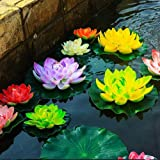 superdream Water Floating Foam Lotus Flower for Pond Decor, Set of 6 (Color: Multi-color, Tamaño: Lotus Flower)