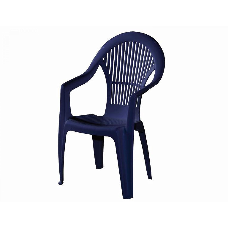 Progarden Stapelsessel 4er Set Loreta Vollkunststoff niedrige Rückenlehne blau günstig kaufen
