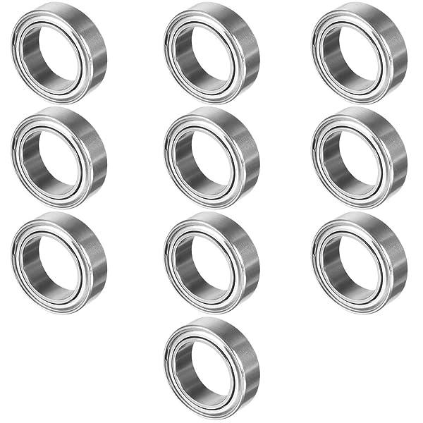 Aexit LM25UU 25mmx40mmx59mm Bearings /& Bit-Repair Parts Linear Motion Bushing Ball Bearing Bearings Silver Tone