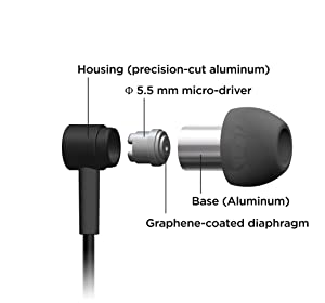 Pioneer Hi-Res Audio in-Ear Headphones, Black SE-CH3T(B) (Color: Black)