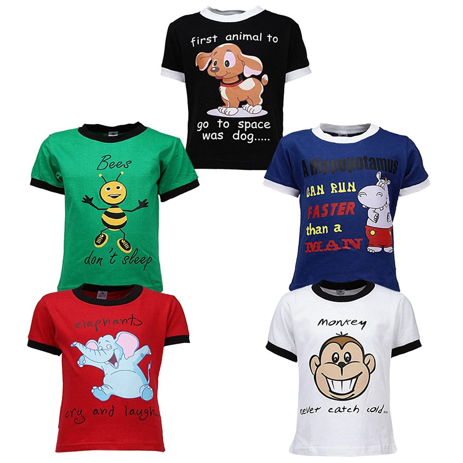 Design your own t shirt india cash on delivery - Goodway Boys Pack Of 5 Theme Did You Knowtheme Printed T Shirts