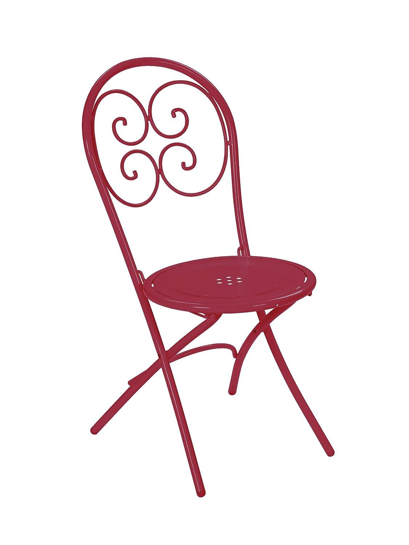 Emu 309244400 Pigalle Klappstuhl 924, pulverbeschichteter Stahl, 4-er Set, rot online bestellen
