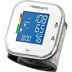 MeasuPro Wrist Digital Blood Pressure Monitor with Heart Rate Detection