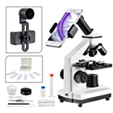 1000x Compound Microscope for Students with Prepared Slides Kit Suitable for School Teaching, Biological Research and Homeschool Learning Nature MAXLAPTER (Color: 851, Tamaño: WR851)