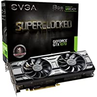 EVGA GeForce GTX 1070 SC GAMING Black Edition 8GB Graphics Card + NVIDIA GIFT