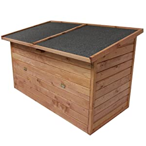 Auflagenbox 128x77x72cm | ca. 400L Fassungsvermögen | Gartenbox |Mehrzweckbox | Holztruhe  BaumarktKundenbewertung und Beschreibung