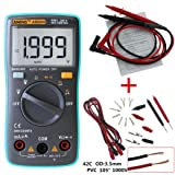 Hot AN8004 Pocket Mini Portable Auto Ranging Digital Multimeter Tester, Large LCD display,MAX display 1900 counts (Blue) (Color: Blue, Tamaño: L)