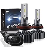 H11/H8/H9 LED Headlight Bulbs Conversion Kit, DOT Approved, SEALIGHT S1 Series 12x CSP Chips Low Beam / Fog Light Bulb- 6000LM 6000K Xenon White