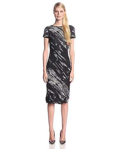 BCBGMAXAZRIA's Jacquard Deep V Dress