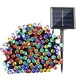 Qedertek Solar String Lights 72ft 200 LED Fairy Christmas Lights, 8 Modes Ambiance Lighting for Outdoor, Patio, Lawn, Landscape, Garden, Home, Wedding (Multi-Color) (Color: 200LED-Multicolor)