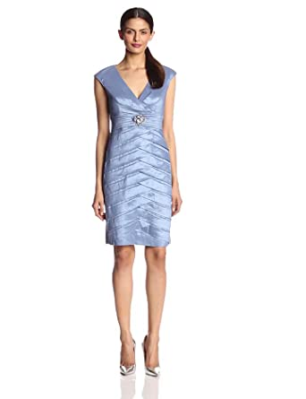 Jessica Howard Women's Cap Sleeve Ruched Waist Dress, Periwinkle, 6