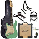 Sawtooth Classic ES60 Left Handed Surf Green Guitar Players Pack (Color: Surf Green, Tamaño: Left Handed)