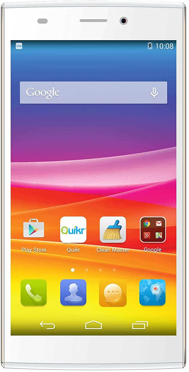 Smart Phones Under @ Rs.9,999 By Amazon | Micromax Canvas Nitro 2 E311 (White-Gold) @ Rs.5,290