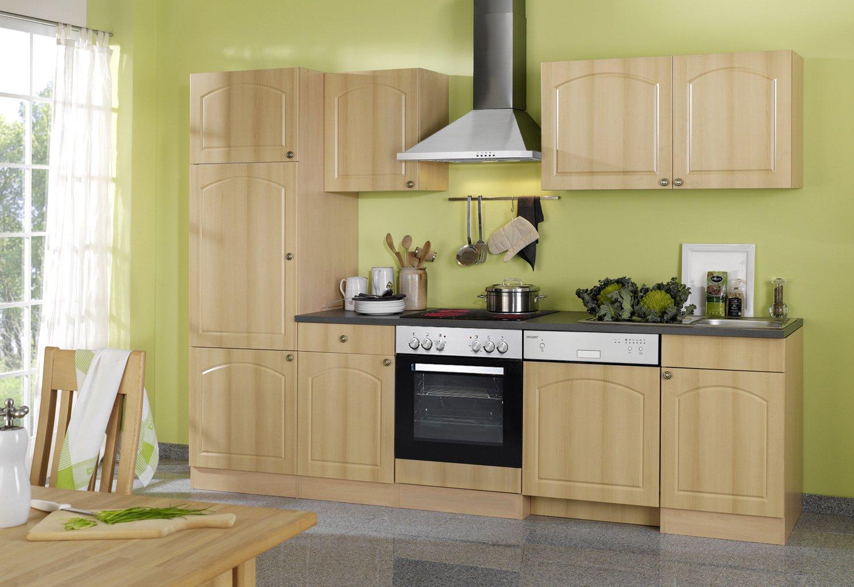 Held Möbel 691.6040 Küchenzeile 280 in Buche / Anthrazit mit E-Geräten