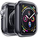 Penom Case for Apple Watch Screen Protector Series 4 40mm, Ultra Thin iWatch 40mm Screen Protector with Full Protection TPU Cover Space Gray (Color: Space Gray, Tamaño: 40mm)