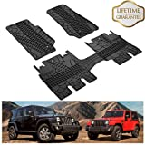 1 Pack for Dodge Caliber 2007-2012 - Jeep Patriot//Compass 2007-2017 Complete Set MAXLINER A0263//B0263 Black Floor Mat
