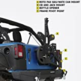Smittybilt 76857 SRC Gen 2 Bolt-On Tire Carrier for Jeep Wrangler