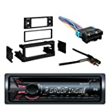 Sony Xplod Cd Receiver with 52x4 Watt Amplifier with Metra Dash Kit For GM Truck And Van 95-05, Metra Radio Wiring Harness and Metra Antenna Adapter