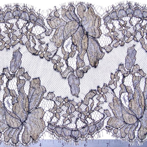 Chantilly Lace Trim 6 Inch Navy
