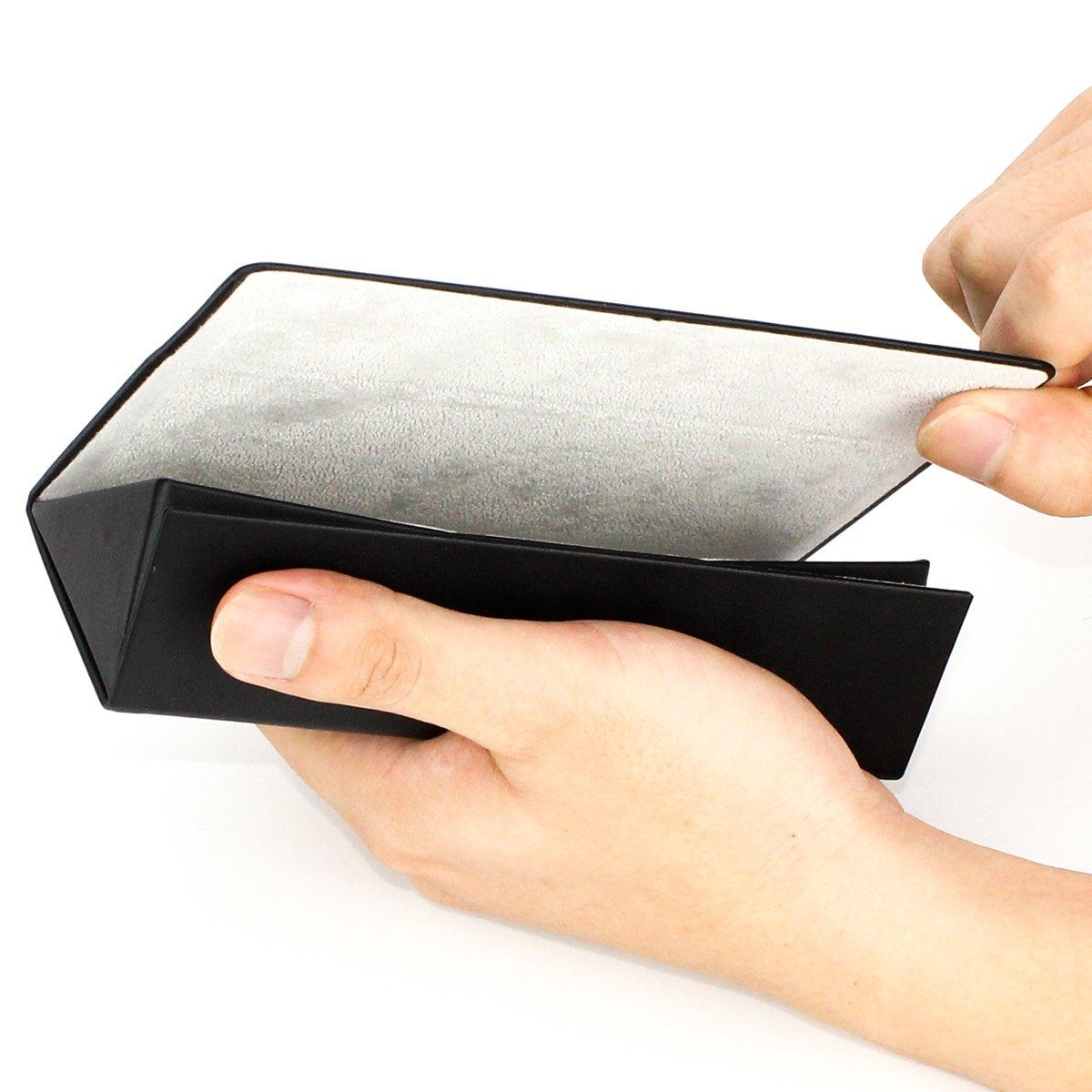 Folding Eyeglasses Case,Ezeso Portable Ultralight Retro Spectacles Box For Men Women 3