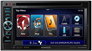 Kenwood Electronics DNX-4250BT Autoradio CD/DVD Noir