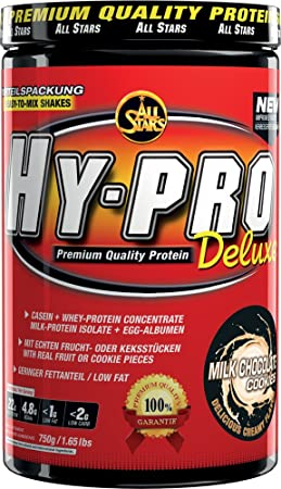 All Stars Hy-Pro Deluxe Protein, Milk Chocolate Cookies, 1er Pack (1 x 750 g)