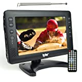 Tyler TTV704-9 Portable Widescreen LCD TV with Detachable Antennas, USB/SD Card Slot, Built in Digital Tuner, and AV Inputs (Color: Black)