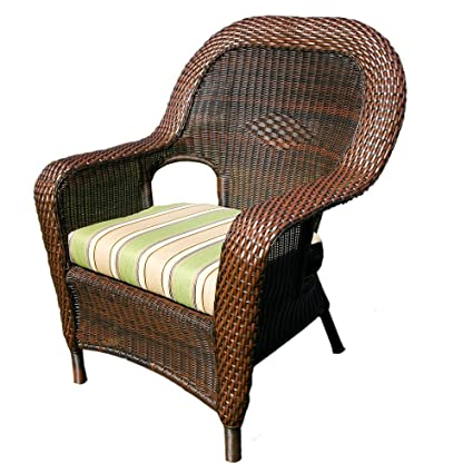 Tortuga Outdoor Garden Patio Lexington Dining Chair - Java
