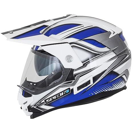 Casque de moto Spada intrépide Mirage noir/bleu