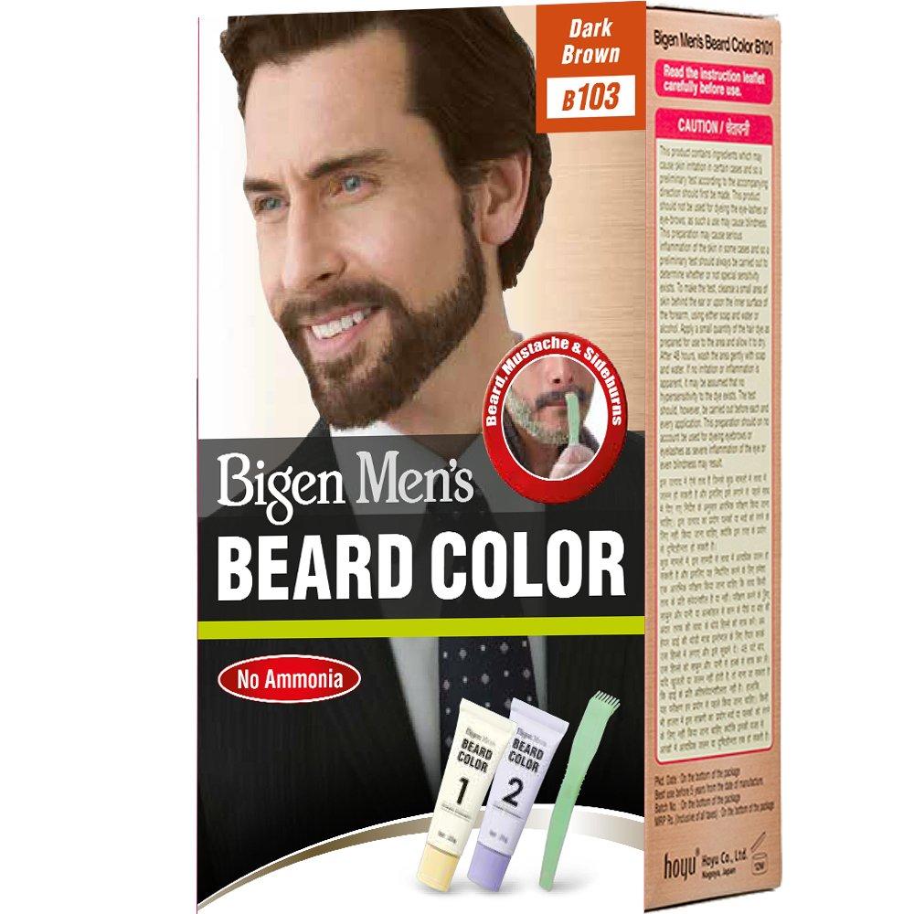 Bigen Men\'s Beard Color, Brownish Black B102(20g+20g): Amazon.in ...
