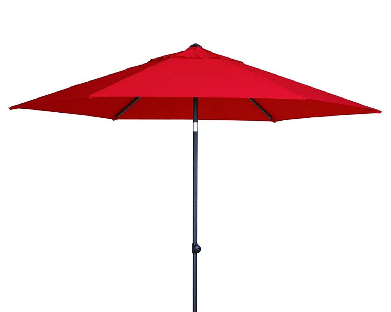 Madison Sonnenschirm Celebes 300 Push up rot mit UV-Schutz 40 Plus