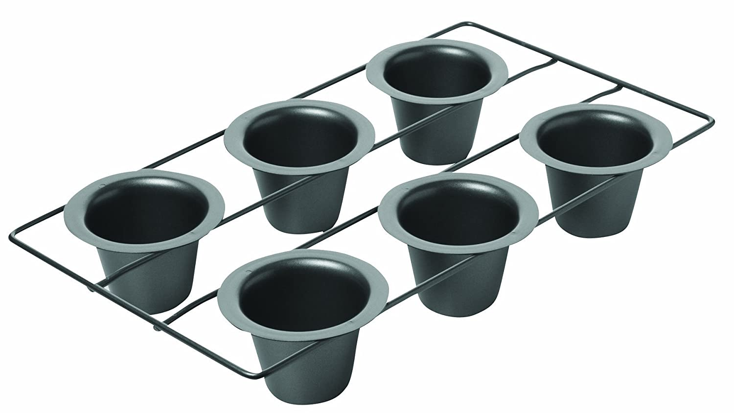 chicago metallic non stick 6 cup popover pan new free. Black Bedroom Furniture Sets. Home Design Ideas