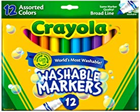 Crayola Count of 12 Ultraclean Washable Markers Color Max 58-7812