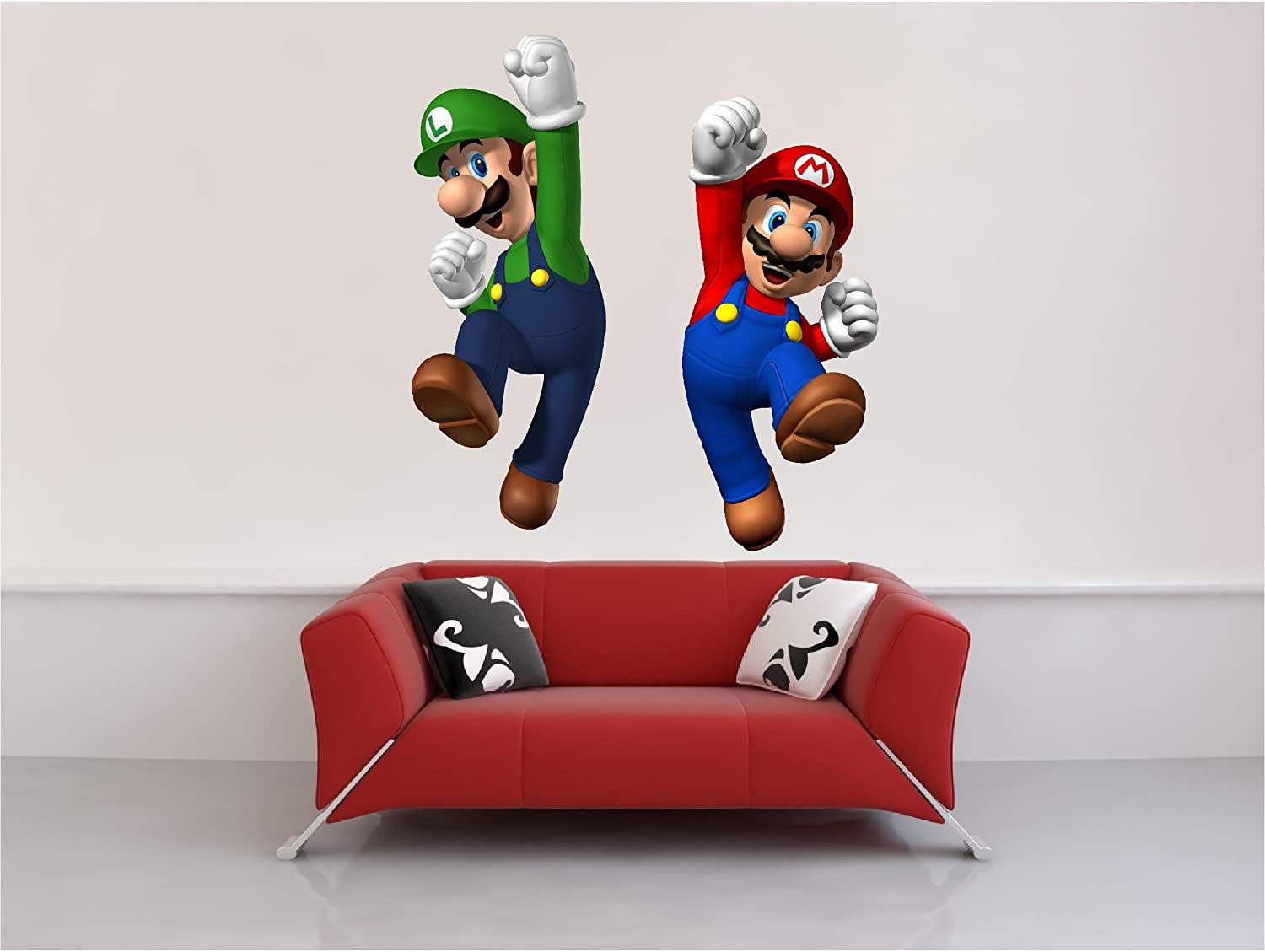 Super mario wall decals totally kids totally bedrooms kids bedroom ideas - Mario wall clings ...