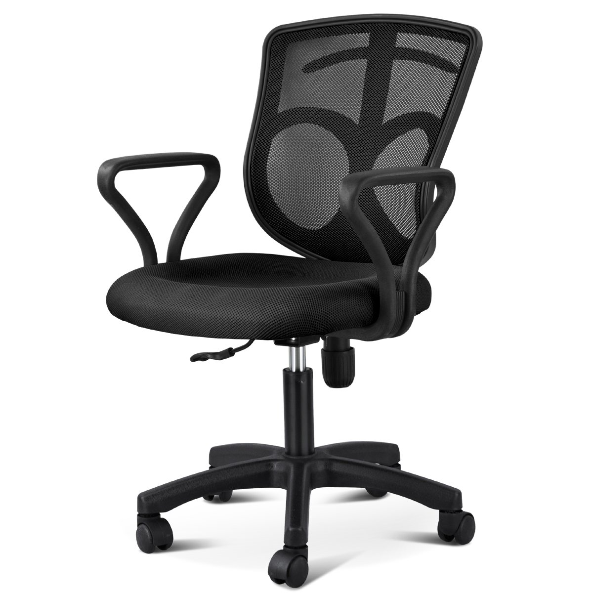 Best office chair 2016 - Gotobuy Black Office Desk Chair With Arms Fabric Mesh Seat Backrest